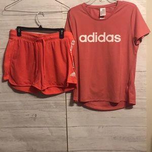 Adidas top and shorts